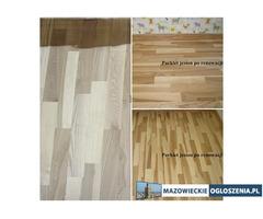 Renowacja, montaż podłóg drewnianych